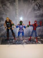 Marvel Universe Hasbro 3.75 SKRULL Thunder Strike & Spider-Man action figure lot