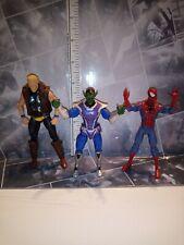 Hasbro Marvel Universe Avengers 3.75 SKRULL SOLDIER Thunder strike & Spider-Man