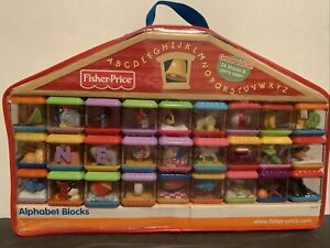 Fisher Price Peek A Blocks Alphabet Letters A to Z Complete Set Bag ABC EXC