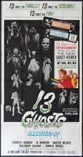 13 GHOSTS WILLIAM CASTLE HORROR IN ILLUSION-O! 1960 3-SHEET BILLBOARD