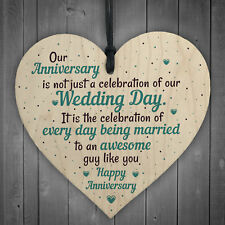 Wedding Anniversary Gifts Heart First Wedding Anniversary Card Husband For Him