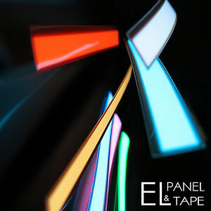 15mm x 150mm EL Tape -  Electroluminescent Panel, Glowing Foil Tape -7 Colours