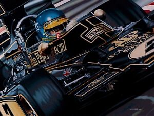 Ronnie Peterson 90 x 70 cms limited edition F1 art print by Colin Carter