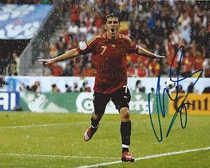 David Villa Signed 8×10 Photo Team Spain World Cup Soccer Autographed COA