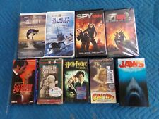Lot of 9 Vintage VHS Movies Jaws-Spy Kids-Free Willy-Call of the Wild & More