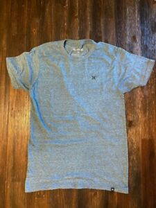 MENS HURLEY BLUE HEATHER T-SHIRT SIZE SMALL
