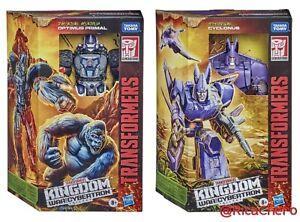 Transformers War for Cybertron Kingdom Voyager WFC K8 Optimus Primal K9 Cyclonus