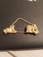 Vintage cute design Avon Koala bear & baby golden metal stick pin