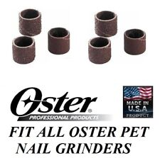 6 pc Oster Pet Grooming Nail Grinder Trimmer FINE&MEDIUM SANDING GRINDING BANDS
