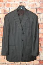 Mens 42 R John Nordstrom X Loro Piana Super 130's Charcoal Grey Pinstripe Suit
