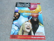 AUG 20 1997 TIME OUT UK tv entertainment magazine - NOTTING HILL CARNIVAL