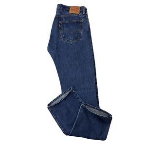 VTG Levi's 501xx Original Button Fly Men's 35x35.5 Blue Heavy Denim Jeans VEUC
