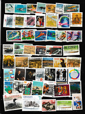 #2921=Canada used selection of 50 different commemorative stamps