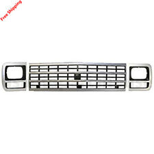 New For CHEVROLET G10 G20 G30 Van Fits 92-96 Front Grille & Headlamp Door Set 3p