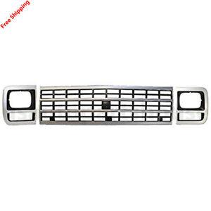 New Grille Headlamp Door Front set 3pc For 92-96 Chevrolet G10 G20 G30 GM1200360