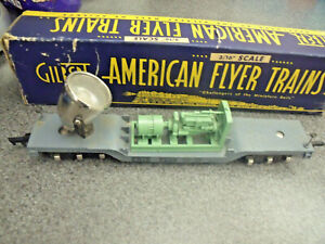 American Flyer 1950 Only #646 S Gauge Die Cast  Genarator Erie Floodlight Car