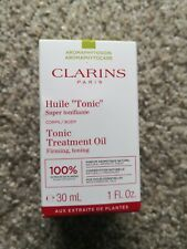 New Clarins Huile Tonic Body Treatment Oil - Plant Extracts 1 OZ / 30 ML