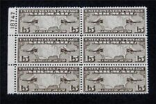 nystamps US Plate Block Air Mail Stamp # C8 Mint OG NH $50 P#6