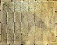 Ancienne carte Taride N°6 Automobiliste & Cycliste Est de la France section Nord