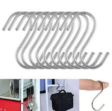 10 Pcs Stainless Steel S Hooks Kitchen Meat Pan Utensil Clothes Hanger
