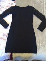 Reclaimed Vintage Black Sequin Dress Size 8