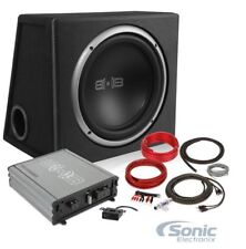 "Belva BPKG110v2 500 Watt Complete Bass Package 10"" Sub in Ported Box + Amp & Kit"