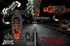 LOSI 8IGHT-T 3.0 2.0 'HELL RIDE' CHASSIS WRAP HOP UP DECALS FITS TLR241009