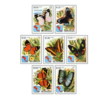 NIC8202 Butterflies of South America. 7 stamps