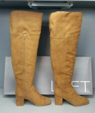 NIB ANN TAYLOR LOFT OVER THE KNEE BROWN STYLISH MODERN BOOTS SIZE 10 (178.00)