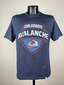 Men's Majestic NHL Colorado Avalanche Navy Blue Cotton Hockey Shirt Small NWOT
