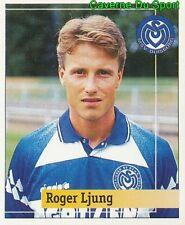 211 ROGER LJUNG SWEDEN MSV DUISBURG STICKER FUSSBALL 1995 PANINI