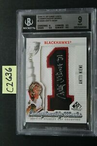 2010-11 SP Game Used ANTTI NIEMI Championship Marks Patch/Auto /50- BGS 9 (C2636