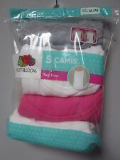 Fruit of the Loom Youth Girls' 5-Pack Multi-Color Camis Size M