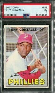 1967 Topps #548 Tony Gonzalez PSA 7 NM