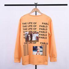 Hot The Life Of Pablo Yeezy Season 3 Kanye West T-Shirt Hip Hop Men Lady Orange