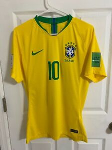 2018 World cup Brazil Match worn Neymar Player issue Jersey PSG Shirt
