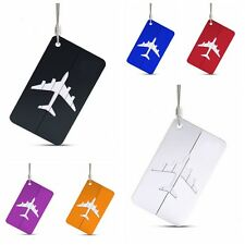 1X Stainless Travel Airplane Luggage Baggage Tag Suitcase ID Address Labels New