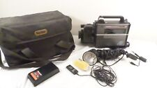Vintage Olympus VX-402-KU VHS Camcorder & Smith Victor Model Q250  Light