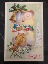 1955 Oslo Norway Christmas Postcard Cover To Cleveland Oh USA In Esperanto