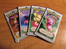 4x Pokemon EX LEGEND MAKER Set Booster Card PACK Complete Box Mew Arcanine Art