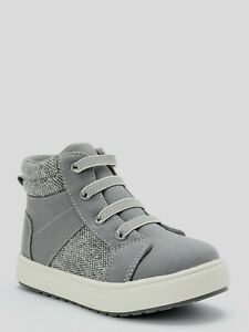 Wonder Nation Infant Casual High-Top Sneaker Shoe, Gray, Size 3