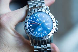 GLYCINE AIRMAN GMT Automatic 46mm Men's Watch ref 3820 - NO RESERVE
