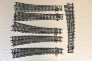 PECO 6 x LARGE RIGHT LEFT HAND CURVE POINT TRACK 32ny