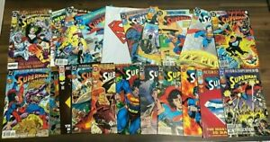 20 Comic Book HUGE lot - All DIFFERENT - Only Superman Comics - FREE Shipping!