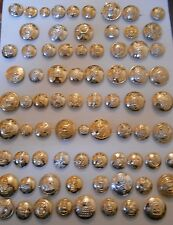 lot / collection  of 76  different  british army  military anodised buttons