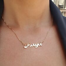 Monogram classic Name Necklace 18k Gold plated or 925 Sterling Silver