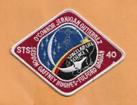 "SHUTTLE COLUMBIA STS-40    PATCH 5 1/2"" *"
