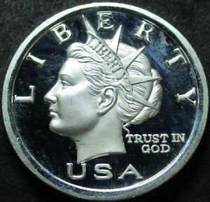 2003 AMERICAN LIBERTY $10 NORFED TORCH 1 TROY OUNCE .999 FINE SILVER ROUND