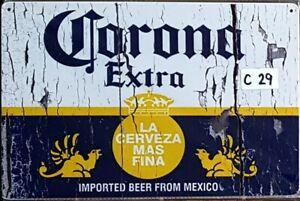 Corona Extra Metal Tin Signs Bar Shed & Man Cave Signs AU Seller