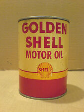 GOLDEN SHELL MOTOR OIL CAN  1QT CAN FROM  THE 1950'S